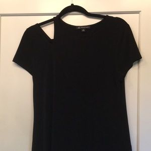 Black INC top with cut out